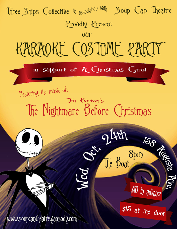 Tim Burton Christmas Carol.The Nightmare Before Christmas Karaoke Singalong Costume